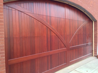 Arched Wooden Garage Door