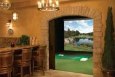 Golf Themed man cave garage